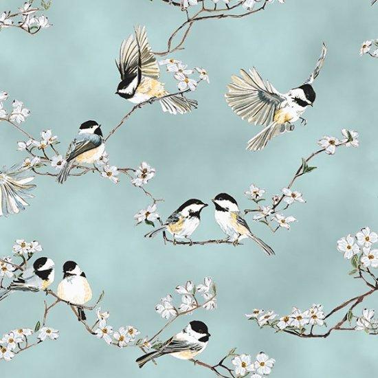 30167 A Little Birdie - dusty teal