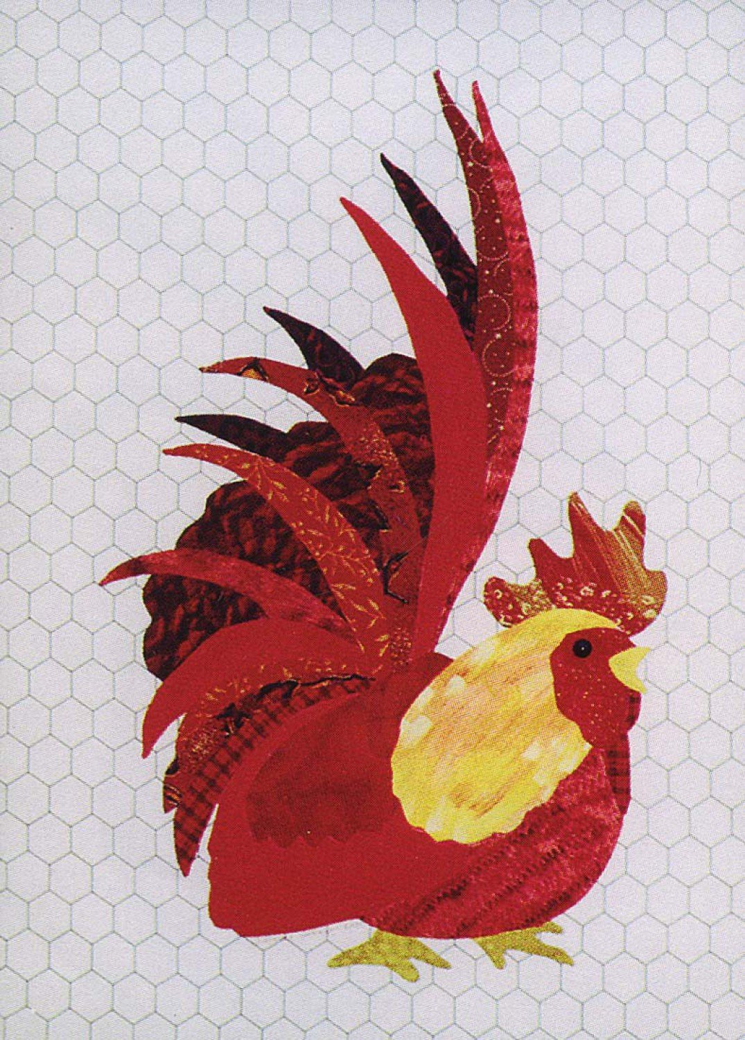 Ralph the Radical Rooster Fusible Applique  Pattern