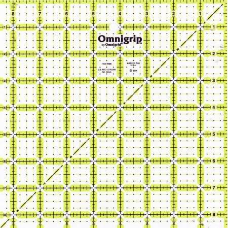 Omnigrip ruler 8.5 X 8.5 non-slip