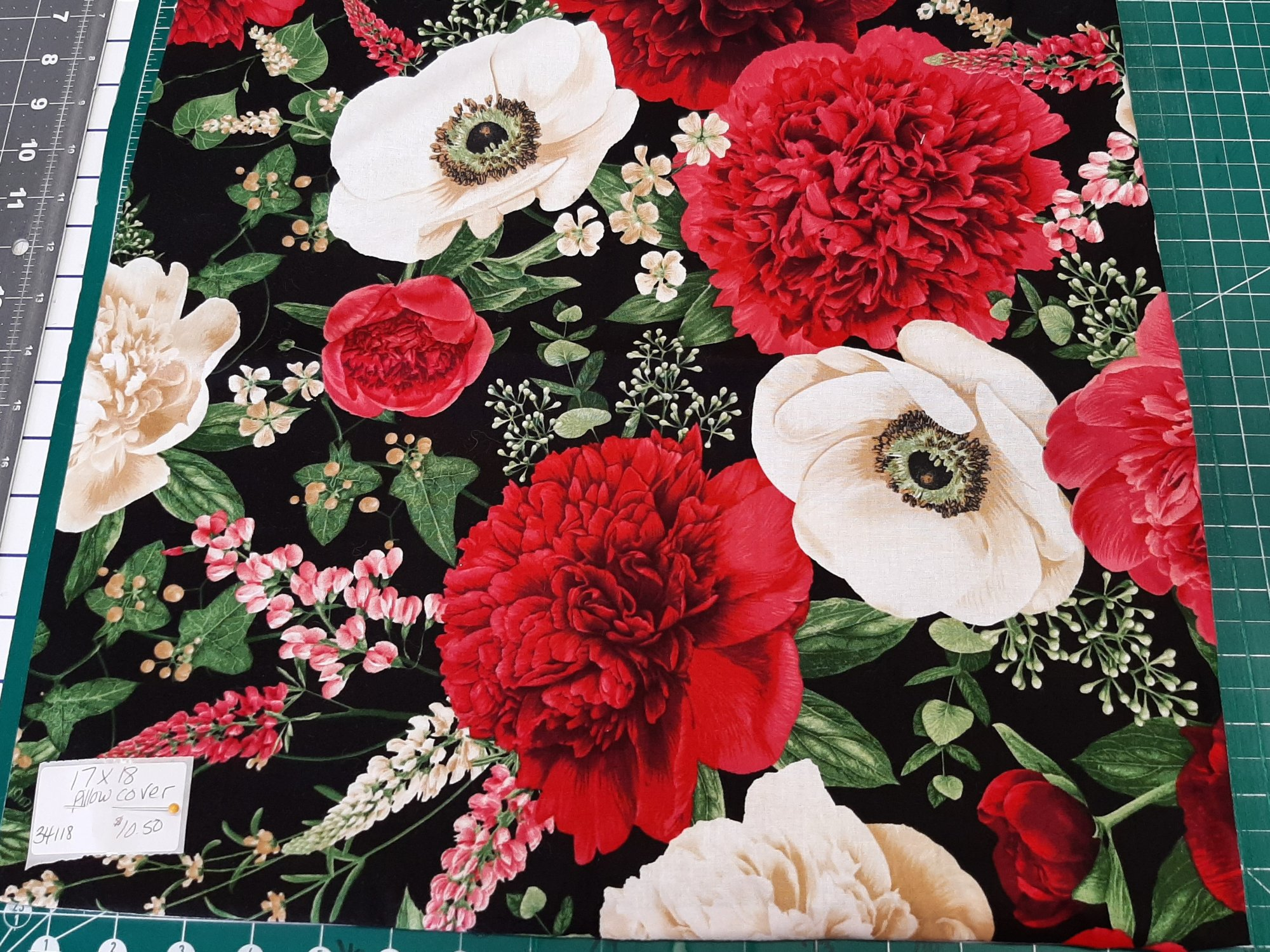 Wild Roses Pillow Cover 17X18