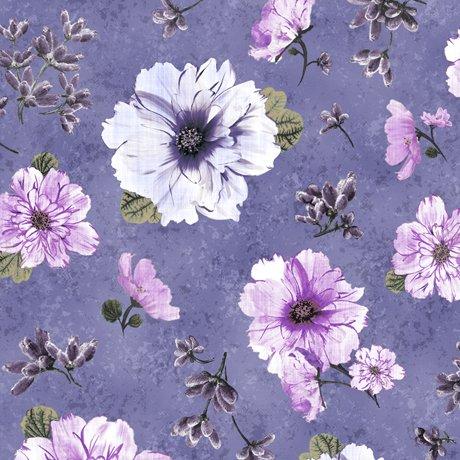 Simone FLOWER BUDS lg floral purple