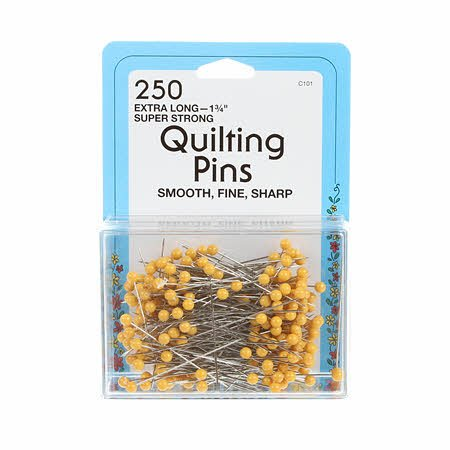 Quilting Yellow Head Pin Size 28  1-3/4in 250ct