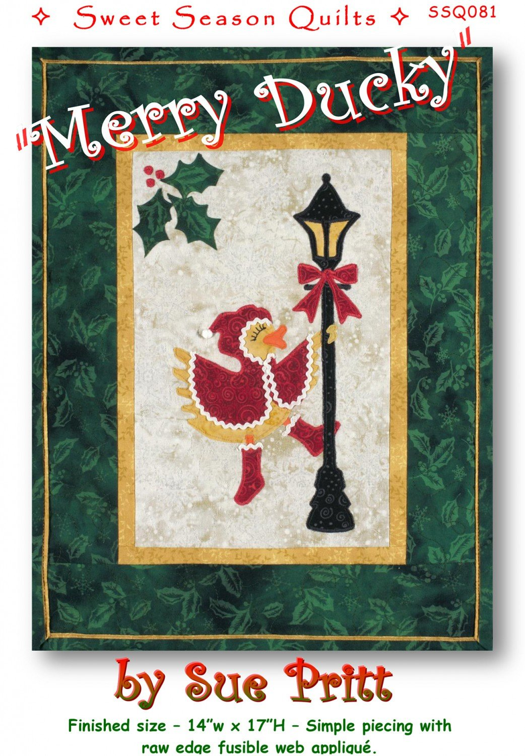 Merry Ducky Fusible Applique Pattern by Sweet Seasons Designs