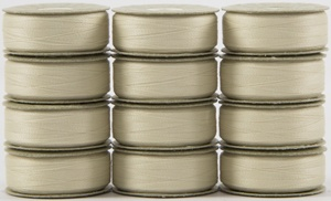 SuperBOBs M Style Bobbins #624 NATURAL WHITE. 1 dz.