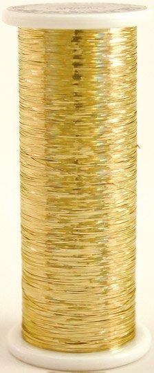 #105 GUCCI GOLD  Glitter (hologram) 400 yds.