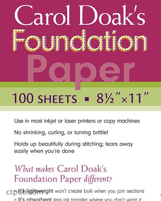 Foundation Paper Piecing by Carol Doak