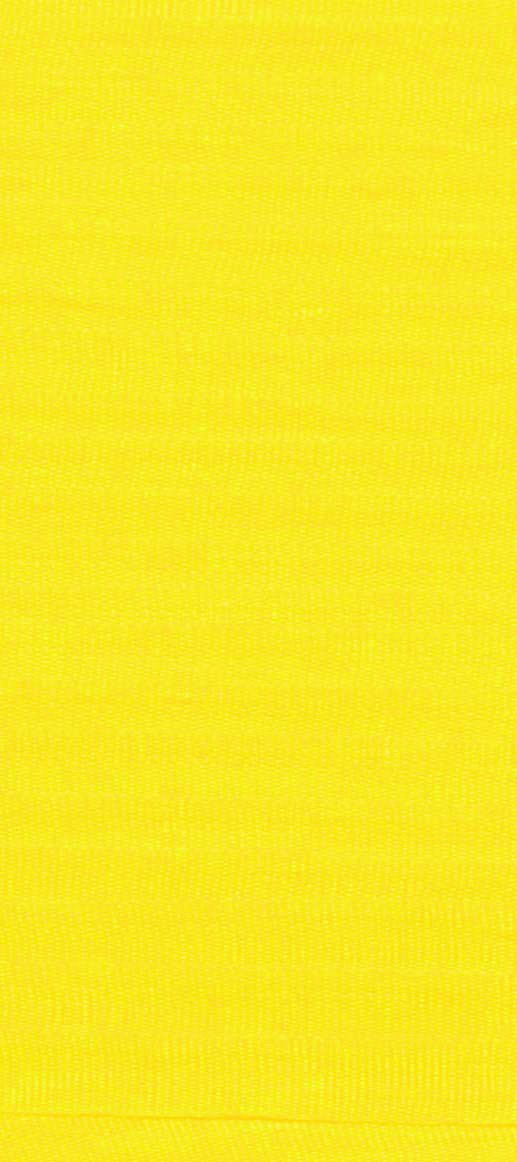 #003 YELLOW 100% Silk Ribbon 4mm x 5.5 yds.