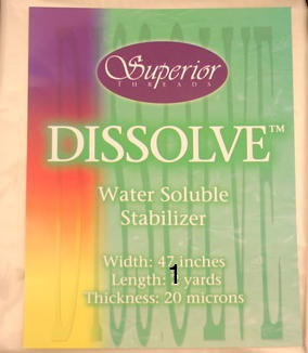 SUPERIOR Dissolve 1 yd. Water Soluble Stabilizer