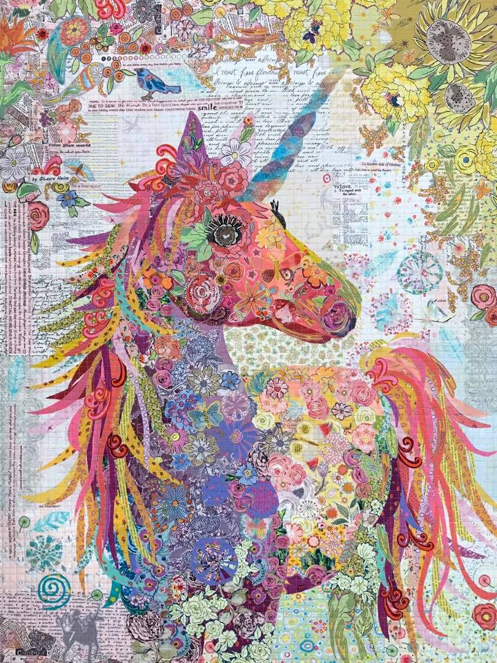 Pattern. Nola Unicorn Collage by Laura Heine (Clearance!)