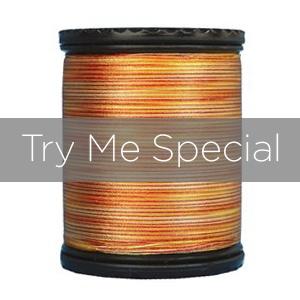 #50 TIARA Try me variegated filament silk. 273 yds.