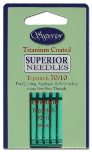SUPERIOR Titanium-coated Topstitch Needles #70/10