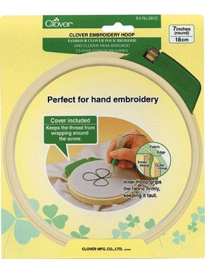 Clover Punch Needle Embroidery Hoop
