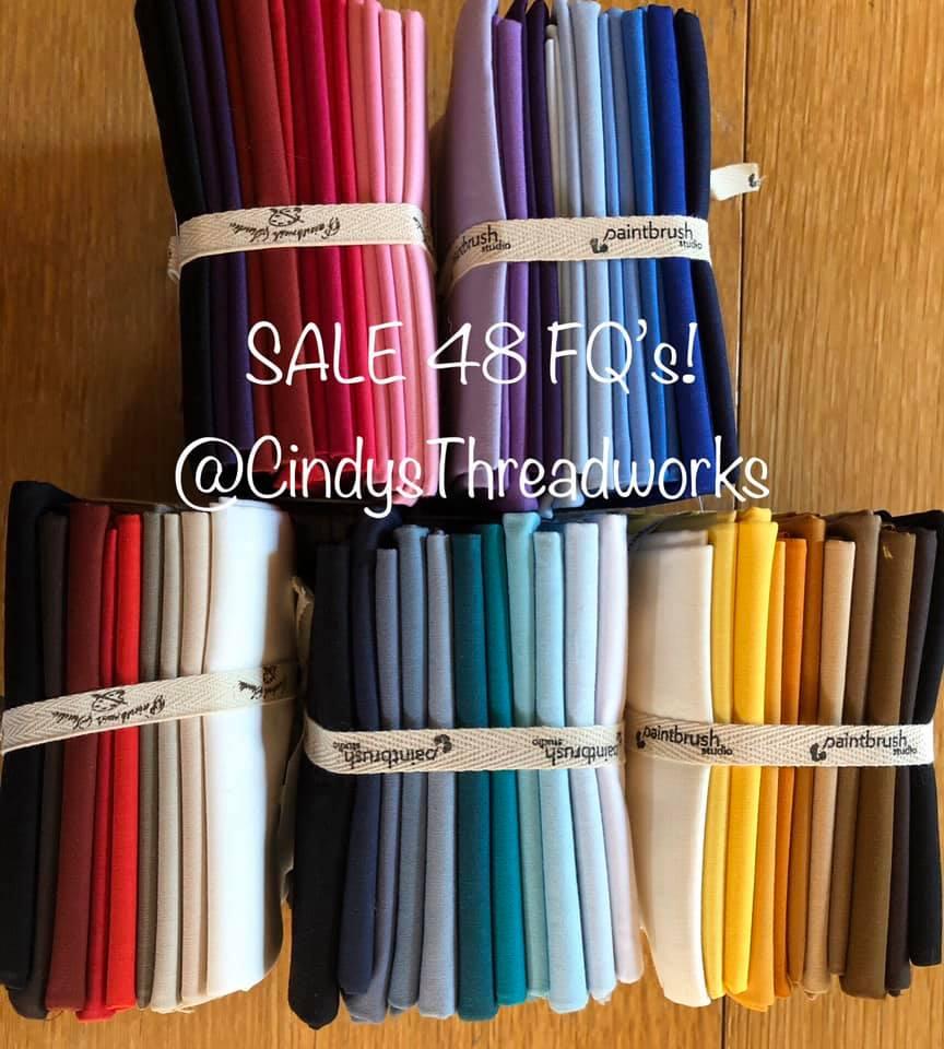 4 Bundles (48) Fat Quarters Paintbrush Studio Fabrics