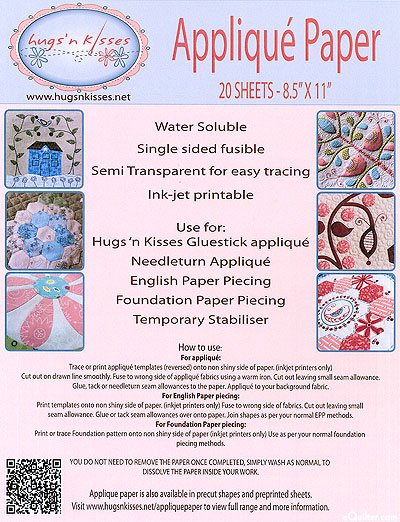 Applique Paper Stabilizer by Hugs 'n Kisses 20