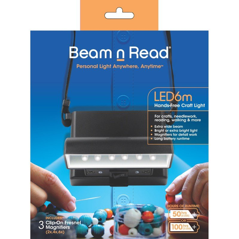 Beam 'n Read 6 LED Light CRAFT Model w/Magnifier