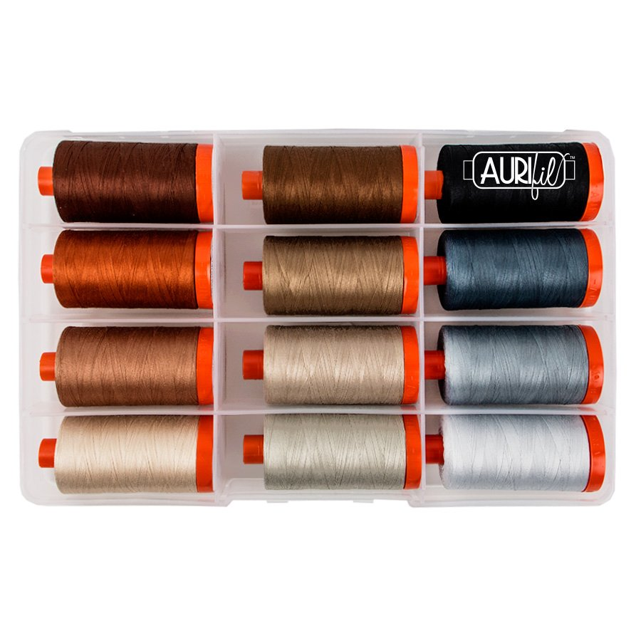 Aurifil Perfect Box Neutrals 50 wt Pat Sloan