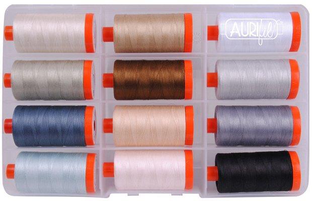 Aurifil Piece & Quilt Collection Neutrals 50 wt Cotton Thread