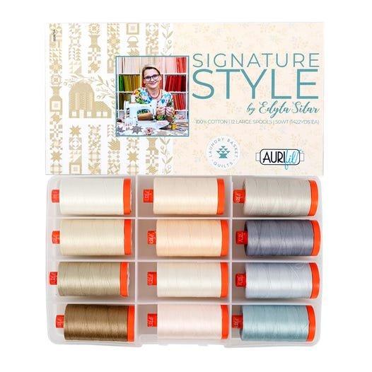 Aurifil Signature Style Collection 50 wt Edyta Sitar