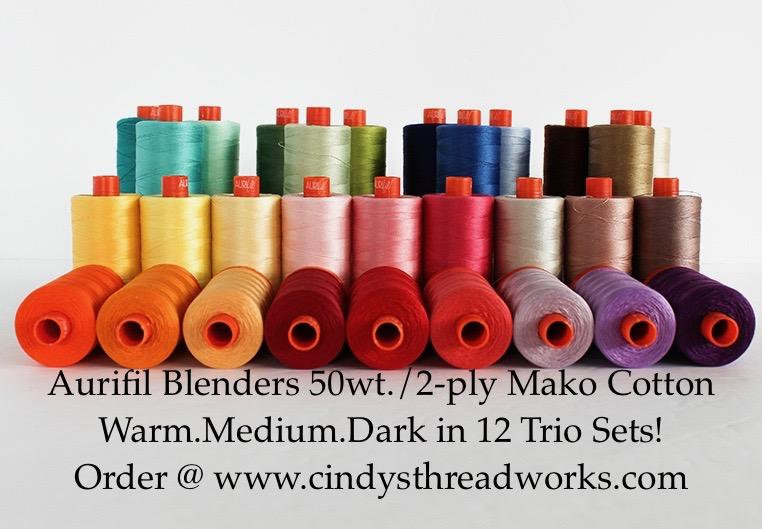 Aurifil Color Builders THREAD CLUB 50 wt Trios