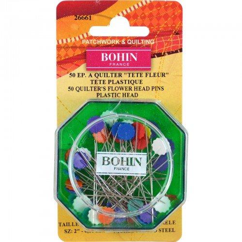 Bohin Flowerhead Pins 50ct
