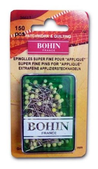 Bohin Super Fine Applique Pins 150 pcs (Clearance!)