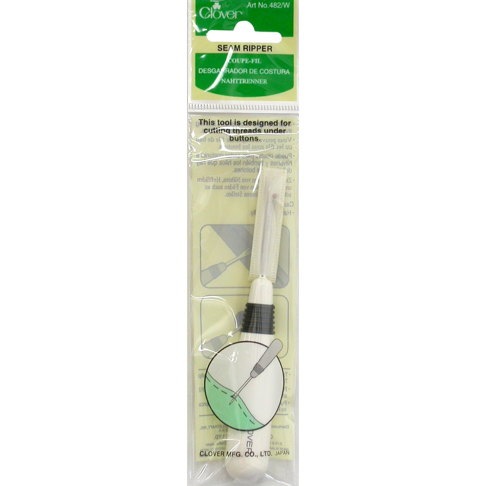Clover Grip Seam Ripper Round Handle