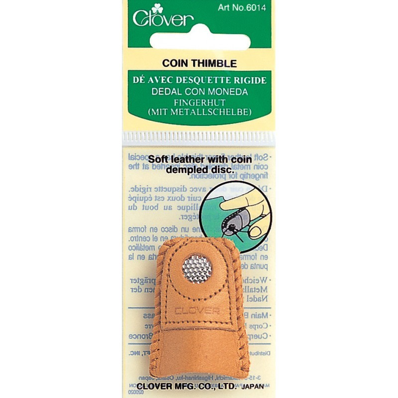 Clover Leather Thimble Coin Dimple (Medium)