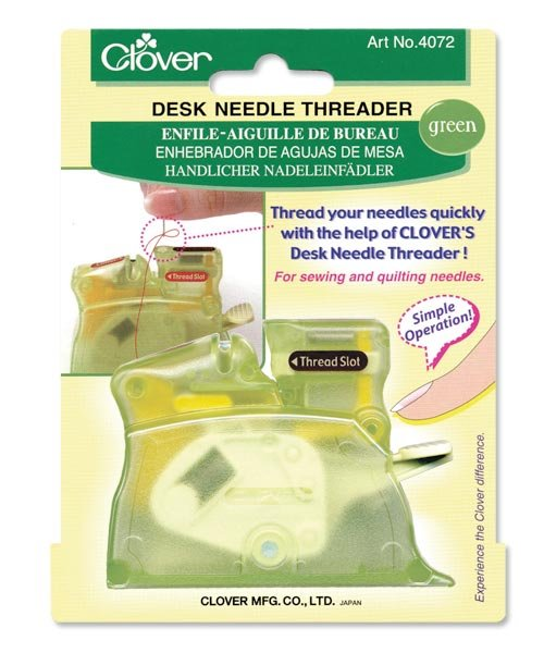 Clover Desk Needle Threader (w/ cutter)