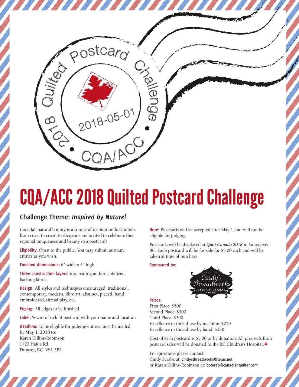 CQA POSTCARD CHALLENGE 6x4 Stabilizer Promotion