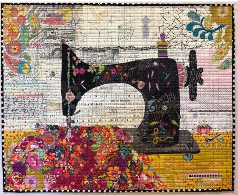 Pattern. Featherweight Collage by Laura Heine