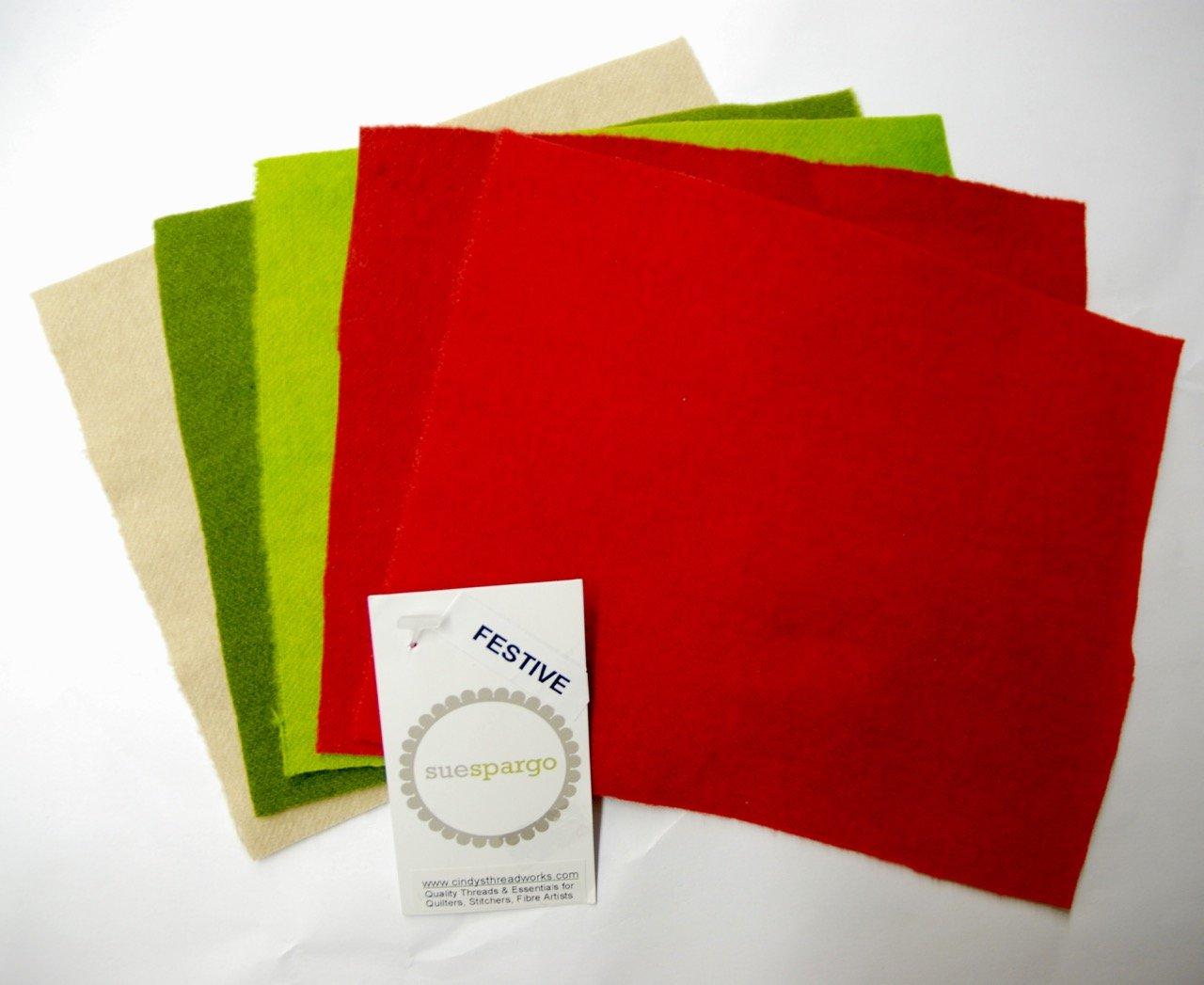Wool FESTIVE Bundle (5 pc) Sue Spargo