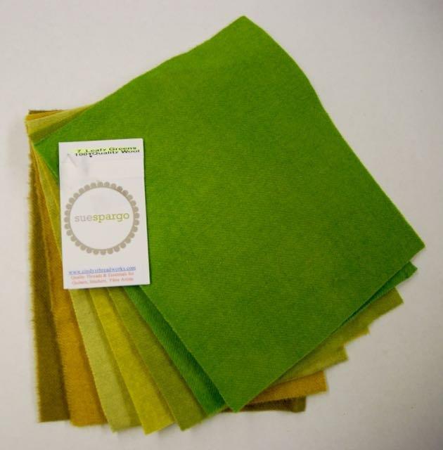 Wool LEAFY GREENS Assortment (6 pc)