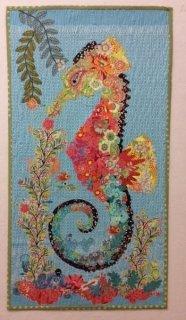 Pattern. Ebba Seashorse Collage by Laura Heine