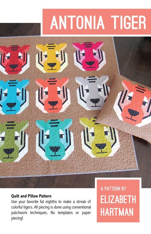 Pattern. Antonia Tiger by Elizabeth Hartman (Clearance)