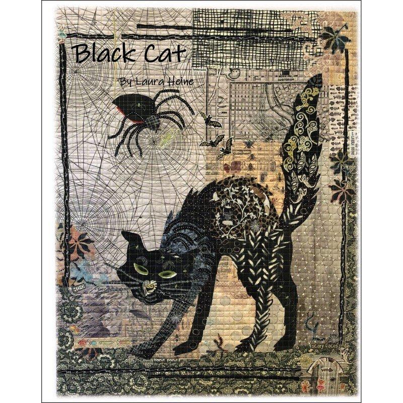 Pattern. Black Cat Collage by Laura Heine