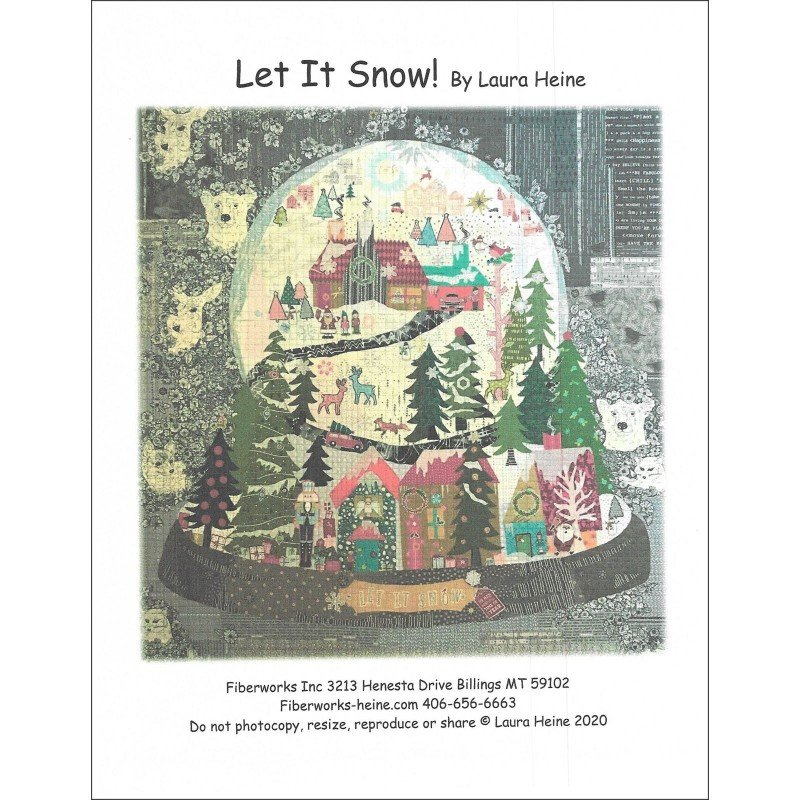 Pattern. Let it Snow! Snow Globe by Laura Heine