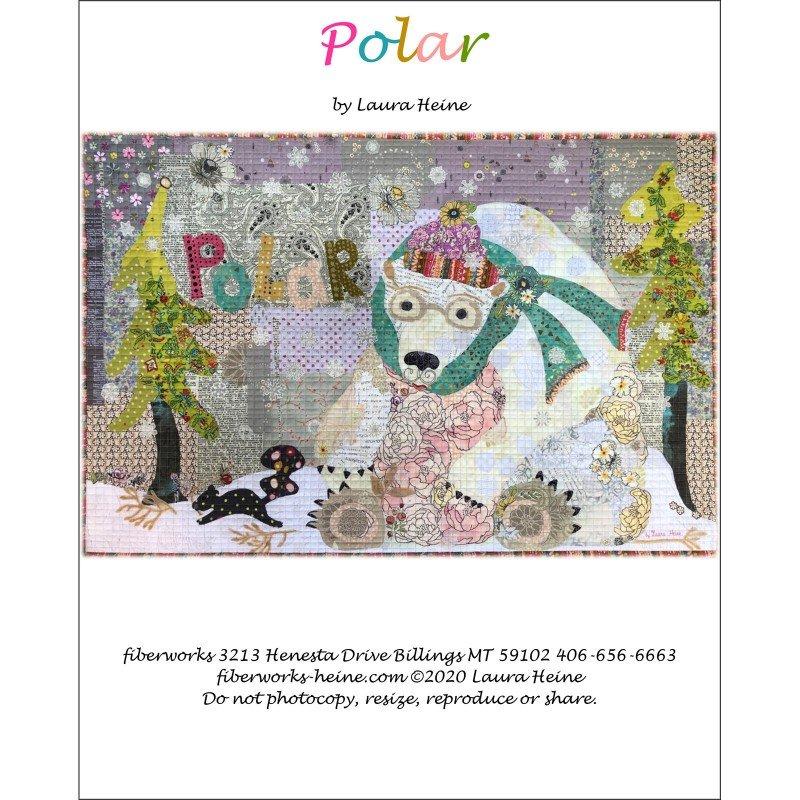 Pattern.  Polar Collage Quilt by Laura Heine