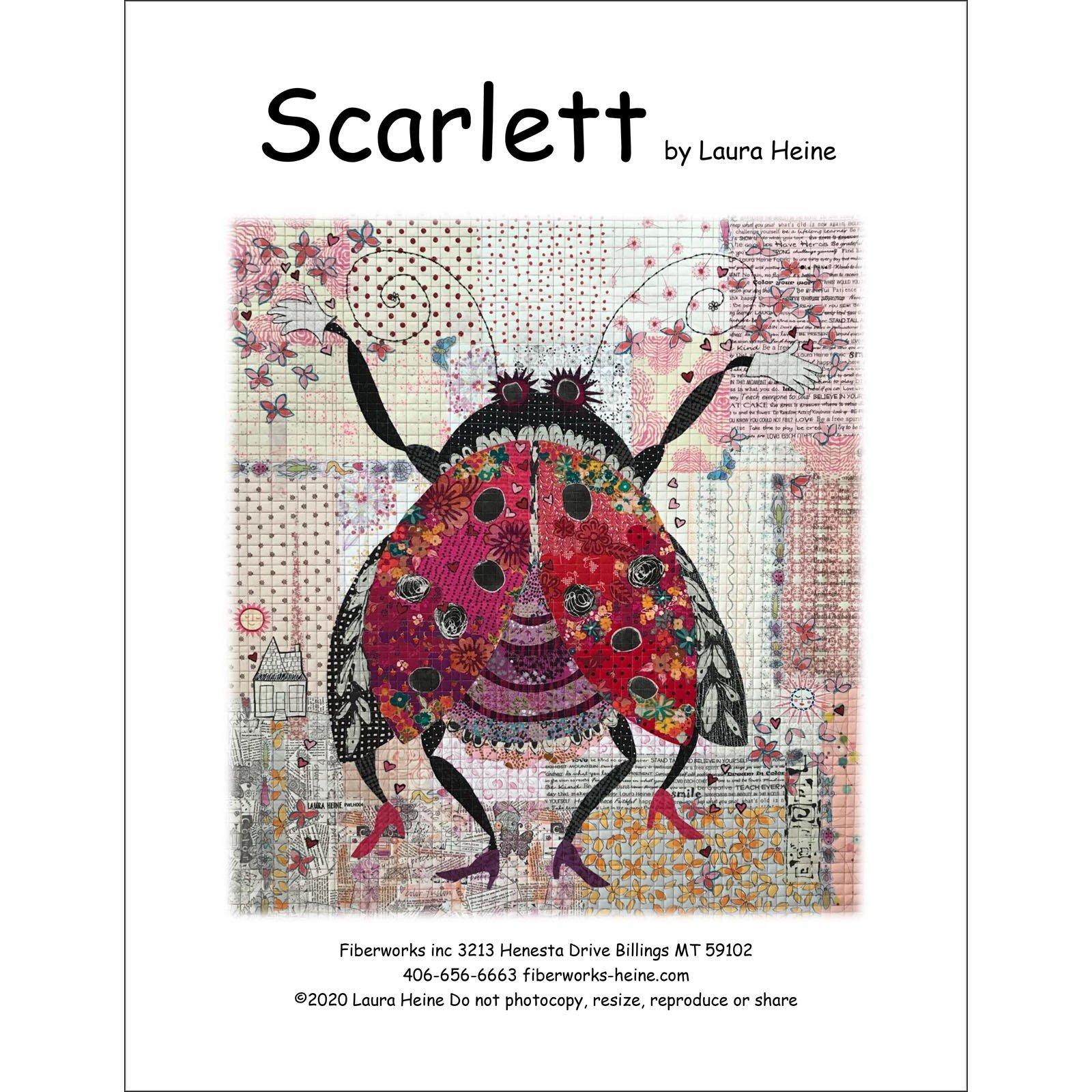 Pattern. Scarlett Collage by Laura Heine (Clearance)