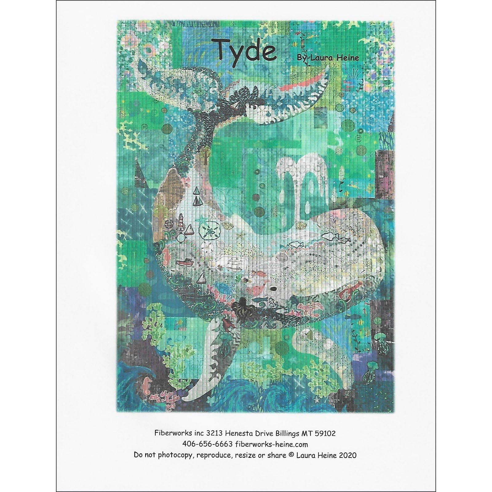 Pattern. TYDE Collage Quilt by Laura Heine NEW!