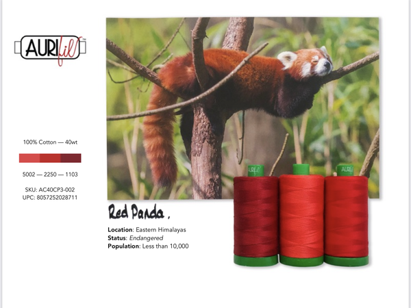 Aurifil Builders 40 wt. Mako Cotton RED Panda