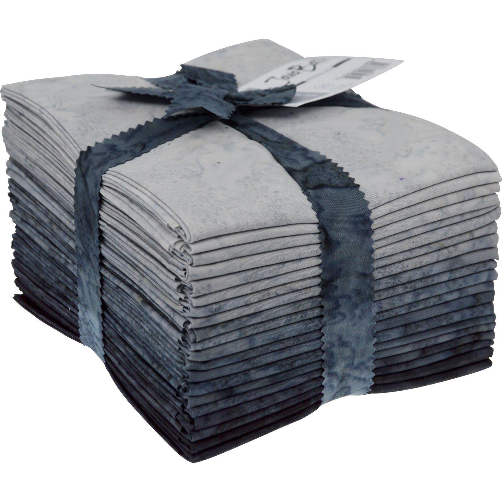 Maywood Java Batiks GREY/BLACK  Marble Bundles Fat Quarters (20)