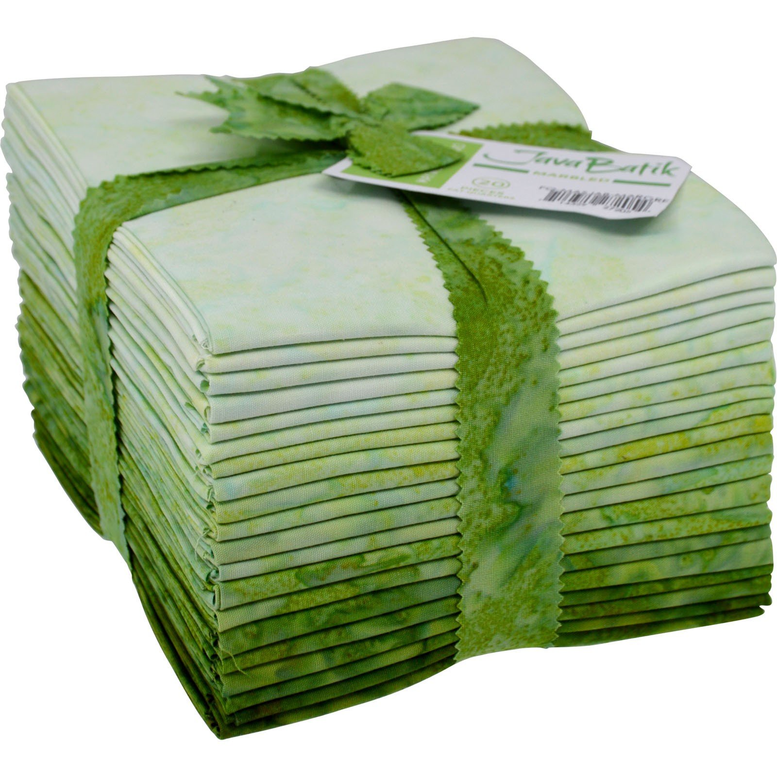 Maywood Java Batiks GREENS Marble Bundle Fat Quarters (20)