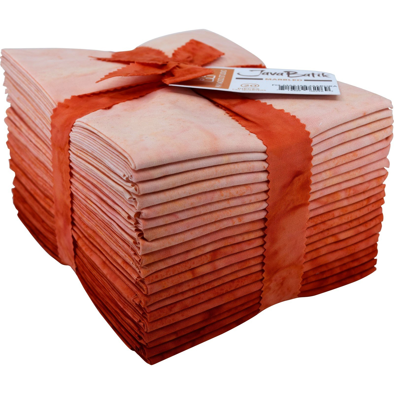 Maywood Java Batiks ORANGE Marble Bundles Fat Quarters (20)
