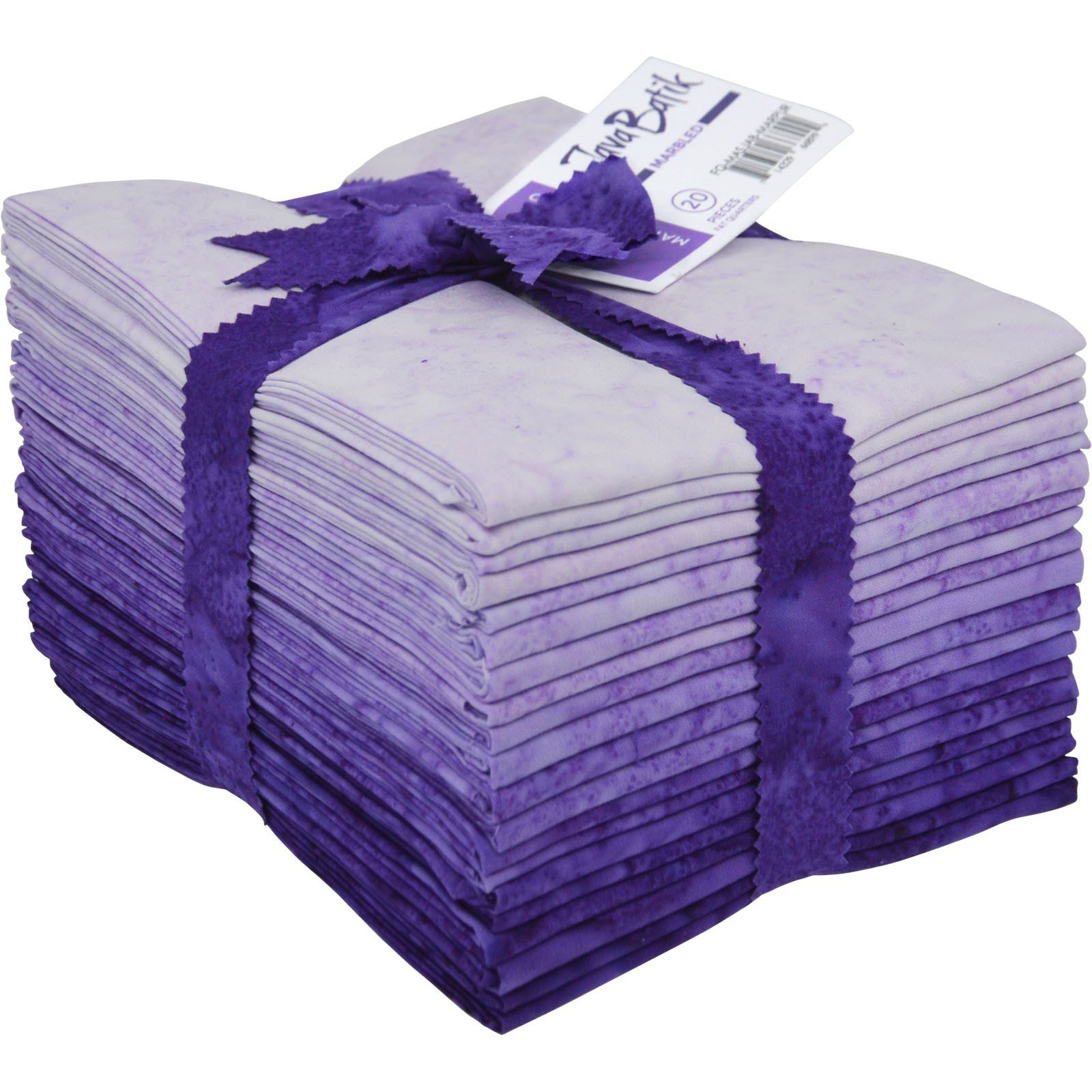Maywood Java Batiks PURPLE Marble Bundles Fat Quarters (20)