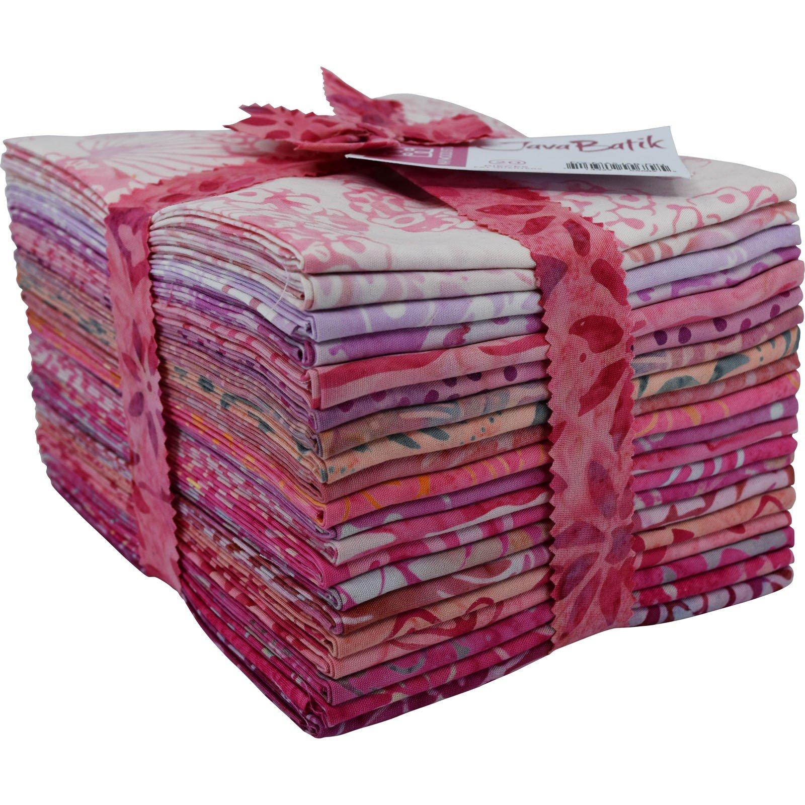 Maywood Java Batiks PINK Print Bundles Fat Quarters (20)
