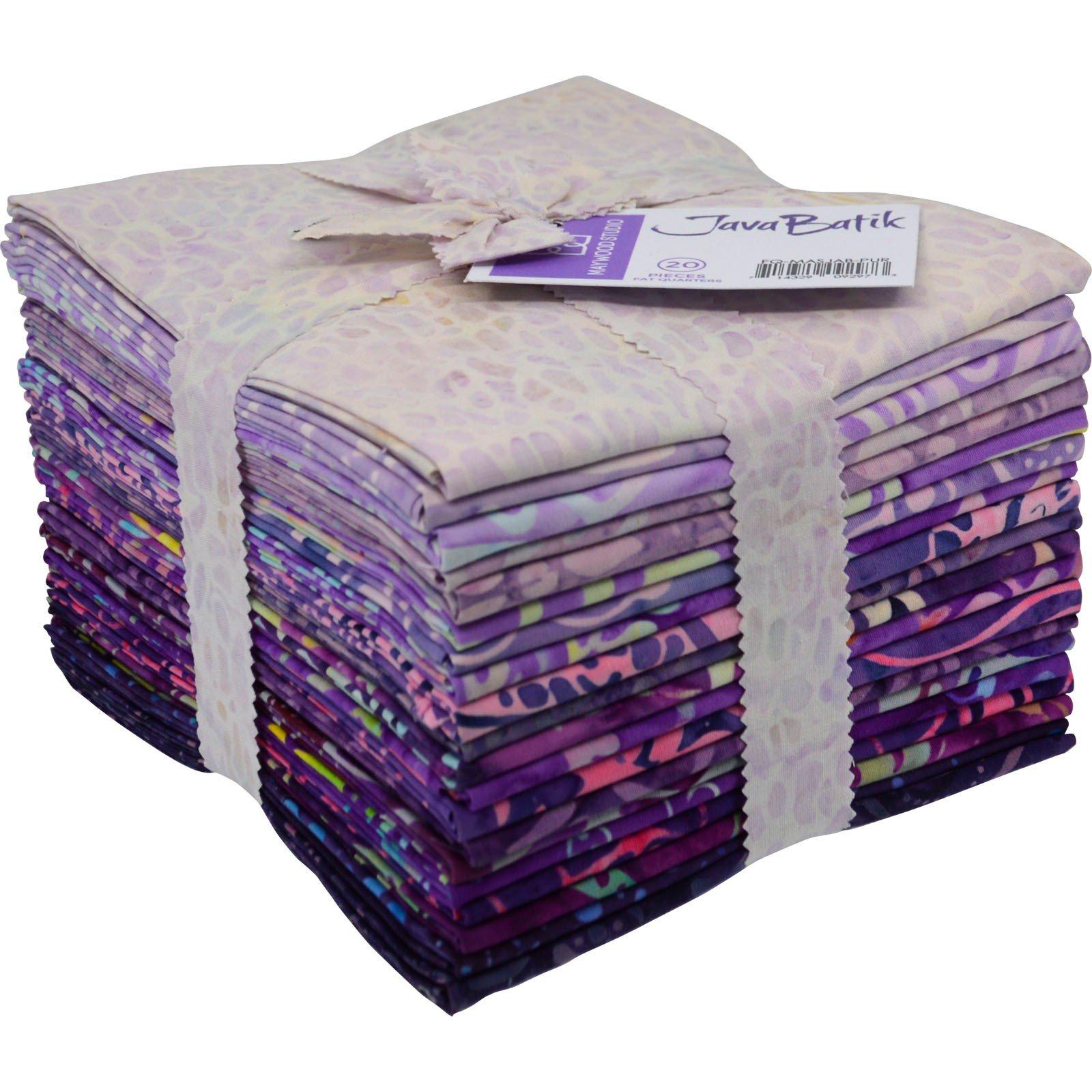 Maywood Java Batiks PURPLE Print Bundles Fat Quarters (20)