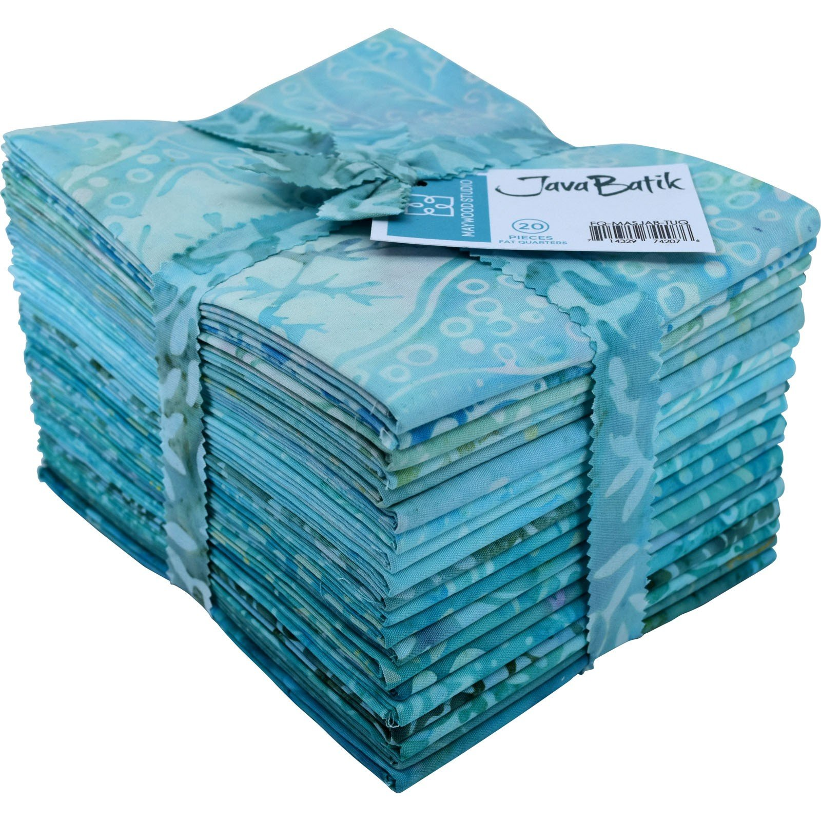 Maywood Java Batiks TURQUOISE Print Bundles Fat Quarters (20)