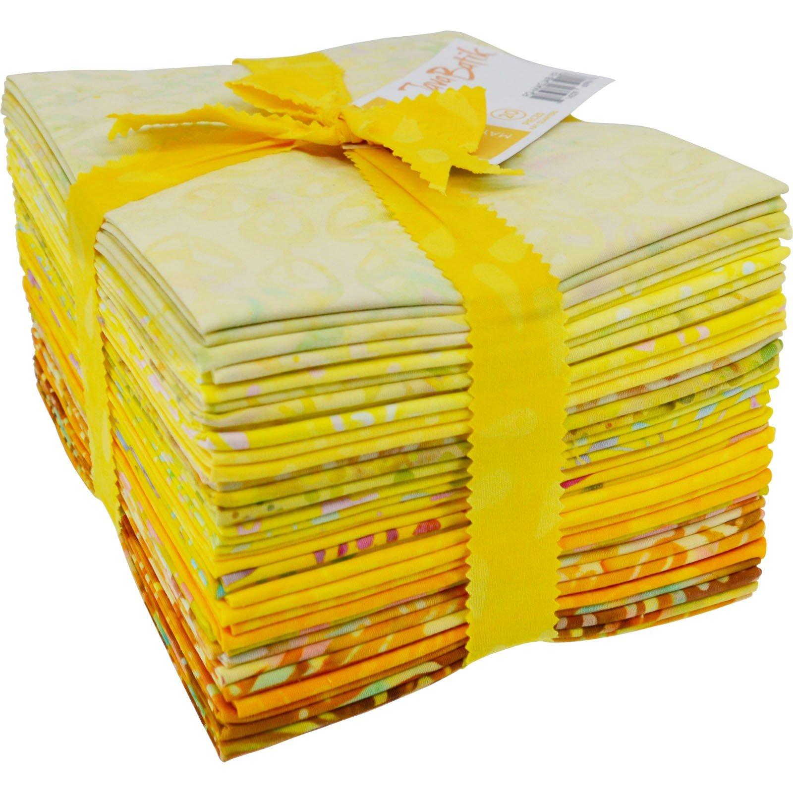 Maywood Java Batiks YELLOW Prints Bundles Fat Quarters (20)