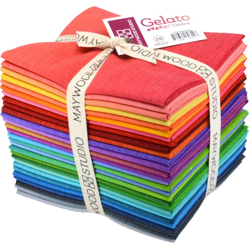 Fabric. Gelato Ombres Fat Quarter Bundle (28) by Maywood Studio