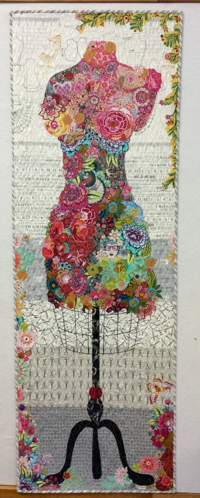 Pattern. Perfect Dress Form Collage Quilt by Laura Heine